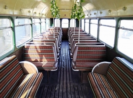 Vintage bus for wedding hire in Dorking